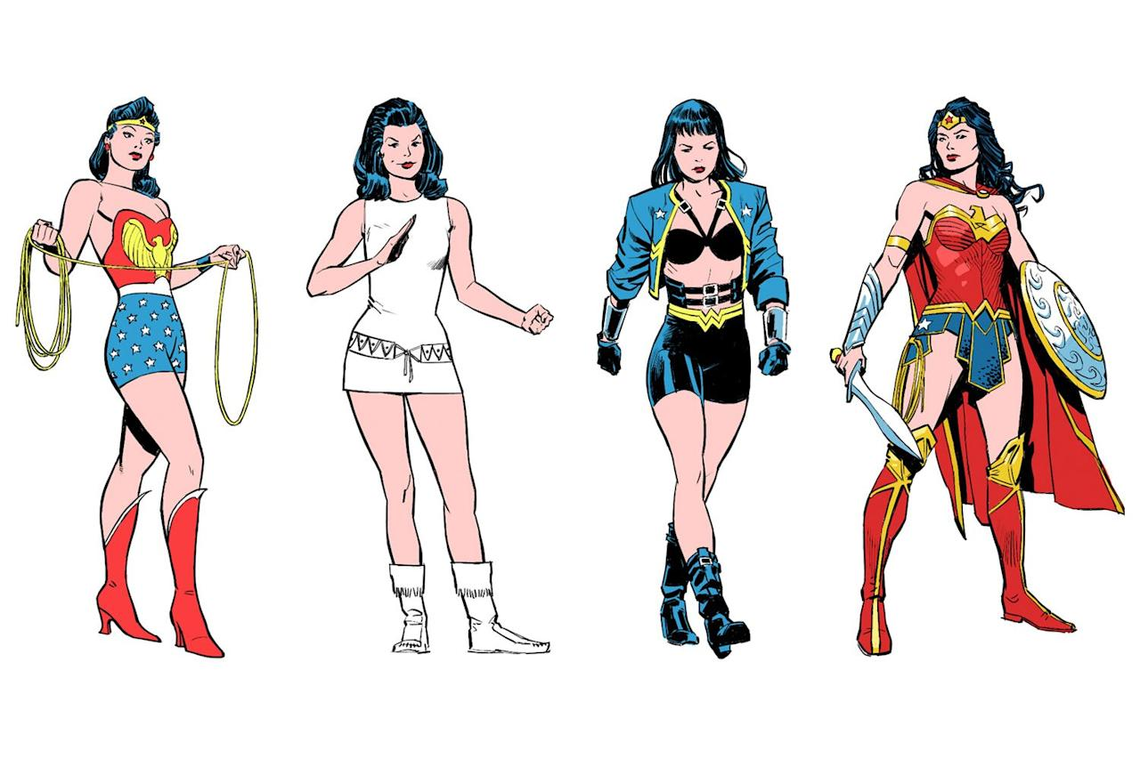 "Ahead of <a href=""https://ew.com/movies/2020/02/11/wonder-woman-1984-gal-gadot-cover/""><em>Wonder Woman 1984</em></a>, we looked back at how Wonder Woman's look has evolved from her first appearance in the '40s to her latest comics redesign."