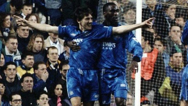 <p>During Newcastle's first Premier League season the prolific English pairing of Andy Cole and Peter Beardsley lifted their side up from 18th at the start of the season to finish third and earn the nickname of 'The Entertainers' from the English media. </p> <br><p>Andy Cole provided 34 of the strikes which would prove to be his most prolific season ever and a 7-1 win over Swindon Town matched Blackburn's then record for the highest Premier League victory.</p> <br><p>Beardsley would go on to finish a St James' Park legend with 276 league appearances in front of the Toon Army.</p>