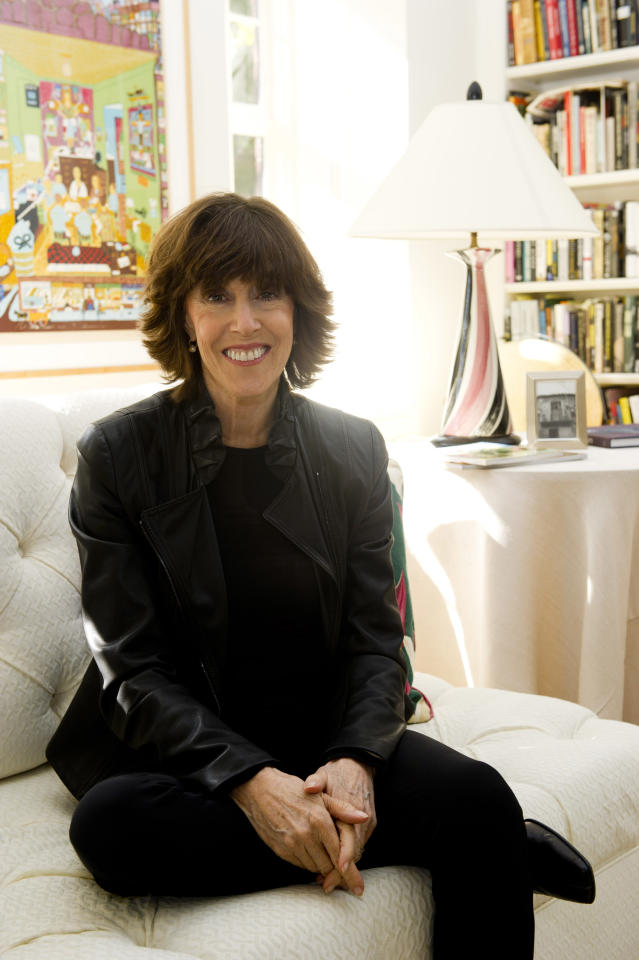 In this Nov. 3, 2010, photo, author and director Nora Ephron poses for a photo at her home in New York.
