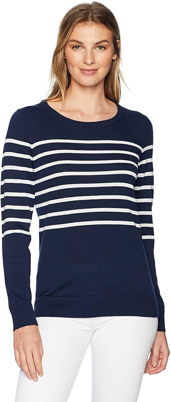 <p>Pick between 45 colors and patterns of this <span>Amazon Essentials Classic Fit Lightweight Long-Sleeve Crewneck Sweater</span> ($19-$23).</p>