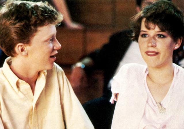 Anthony Michael Hall and Ringwald in <em>Sixteen Candles</em>. (Photo: Universal Pictures/courtesy Everett Collection)