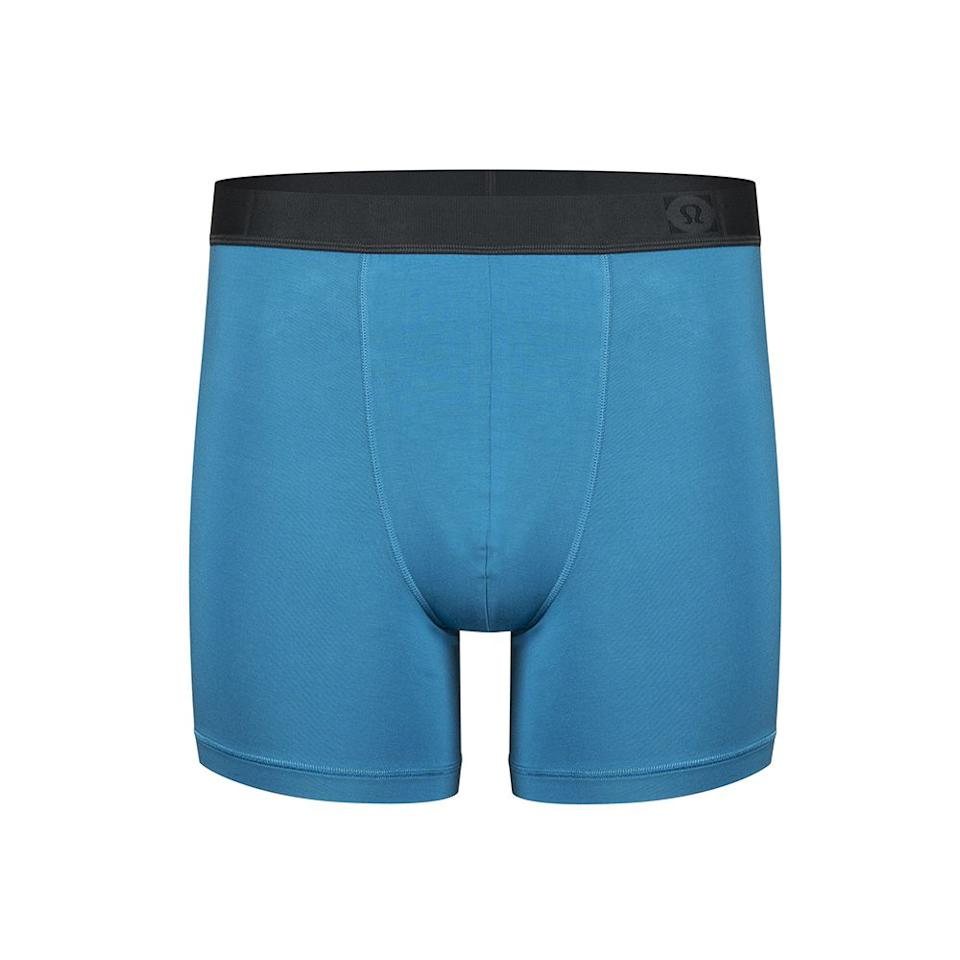 """<p><strong>Lululemon</strong></p><p>lululemon.com</p><p><strong>$28.00</strong></p><p><a href=""""https://go.redirectingat.com?id=74968X1596630&url=https%3A%2F%2Fshop.lululemon.com%2Fp%2Fmen-underwear%2FAim-Boxer%2F_%2Fprod9270823&sref=http%3A%2F%2Fwww.menshealth.com%2Fstyle%2Fg19546347%2Fthe-best-mens-underwear%2F"""" target=""""_blank"""">BUY IT HERE</a></p><p>Your go-to <a href=""""https://www.menshealth.com/style/a26204719/lululemon-underwear-mens/"""" target=""""_blank"""">activewear brand launched underwear</a> this year that has the innovative fabric for maximum comfort you'd expect from Lululemon. Available in this length and <a href=""""https://shop.lululemon.com/p/men-underwear/License-To-Train-Boxer-7/_/prod9270827"""" target=""""_blank"""">a slightly longer style</a>, this pair of underwear has crazy-soft Modal fabric that's both breathable and moisture-wicking with a shaped pouch to keep the boys in position. </p>"""