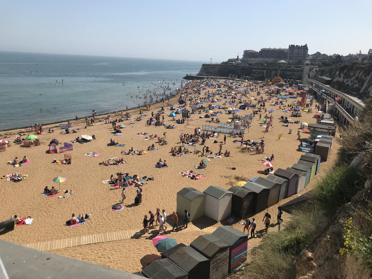 Britain has been edging towards its hottest ever July day for several days, with temperatures soaring across the nation on Tuesday (Picture: Wesley Johnson/PA Wire)