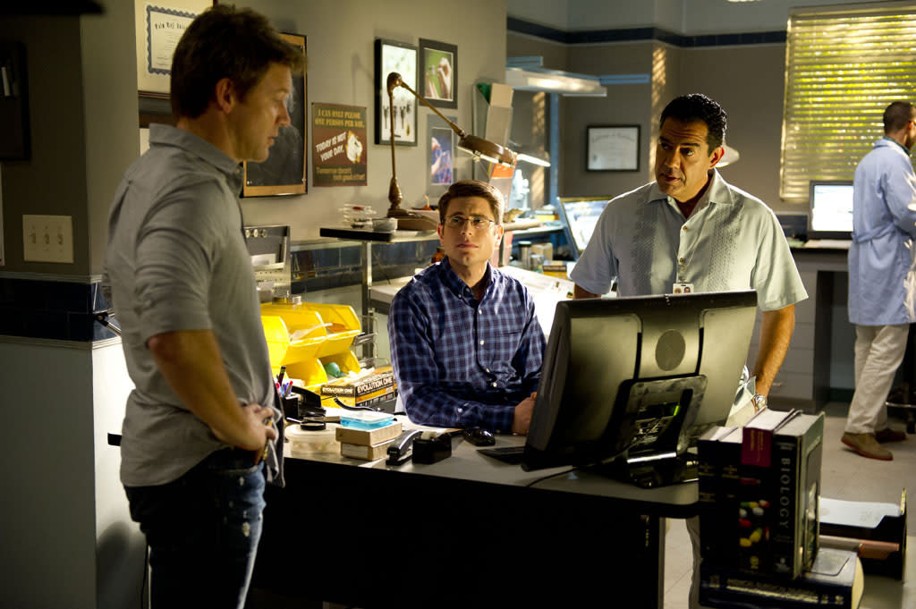 "Matt Passmore, Jordan Wall and Carlos Gomez in ""The Glades"" Season 4 premiere, ""Yankee Dan."""