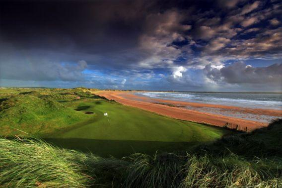 Donald Trump seeks to build a 200,000-ton seawall to prevent erosion on his coastal golf course in Doonbeg, Ireland. (AP/2014)