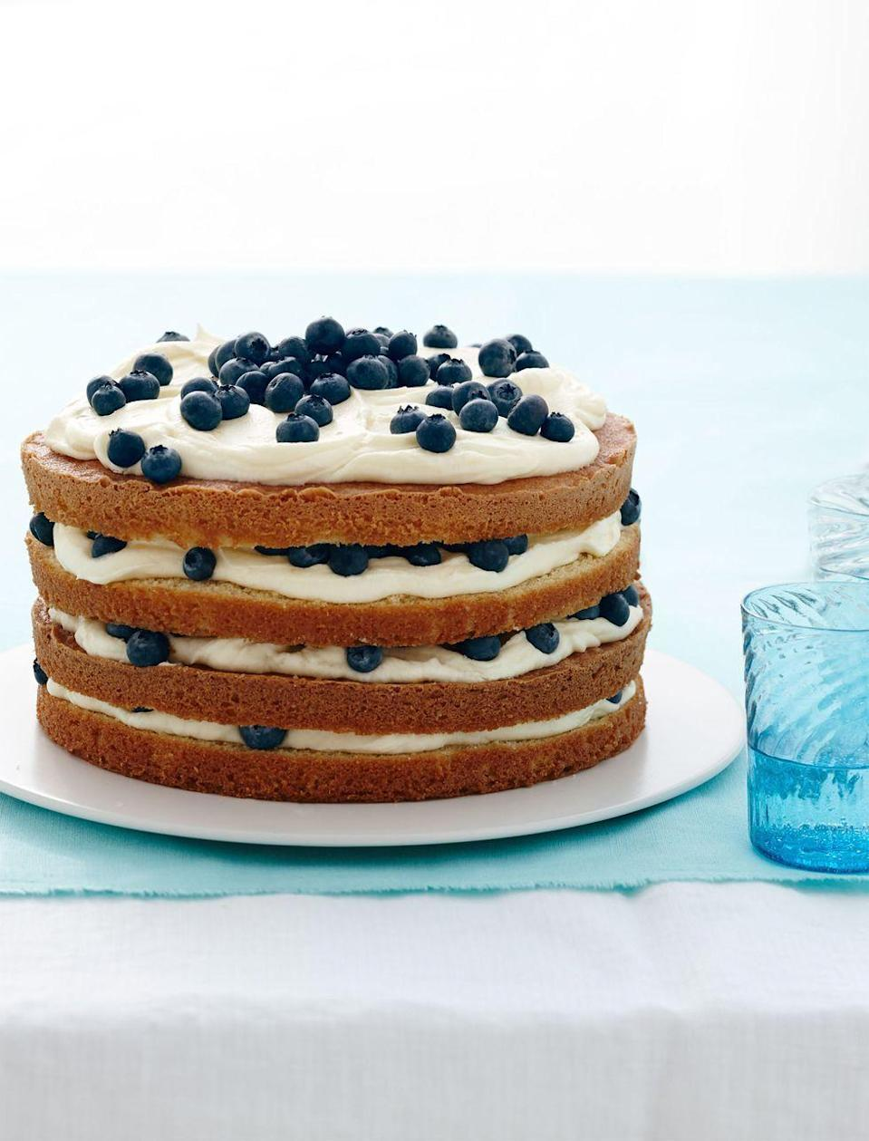 """<p>Ree Drummund uses strawberries instead of blueberries in this recipe for an all-seasons treat. Try a combo of the two for red and blue layers!</p><p><em><a href=""""https://www.goodhousekeeping.com/food-recipes/a15612/lemon-blueberry-layer-cake-recipe-wdy0414/"""" rel=""""nofollow noopener"""" target=""""_blank"""" data-ylk=""""slk:Get the recipe for Lemon Blueberry Layer Cake »"""" class=""""link rapid-noclick-resp"""">Get the recipe for Lemon Blueberry Layer Cake »</a></em></p><p><strong>RELATED: </strong><a href=""""https://www.goodhousekeeping.com/food-recipes/dessert/g4195/lemon-desserts/"""" rel=""""nofollow noopener"""" target=""""_blank"""" data-ylk=""""slk:33 Best Easy and Refreshing Lemon Desserts to Make This Spring"""" class=""""link rapid-noclick-resp"""">33 Best Easy and Refreshing Lemon Desserts to Make This Spring</a><br></p>"""
