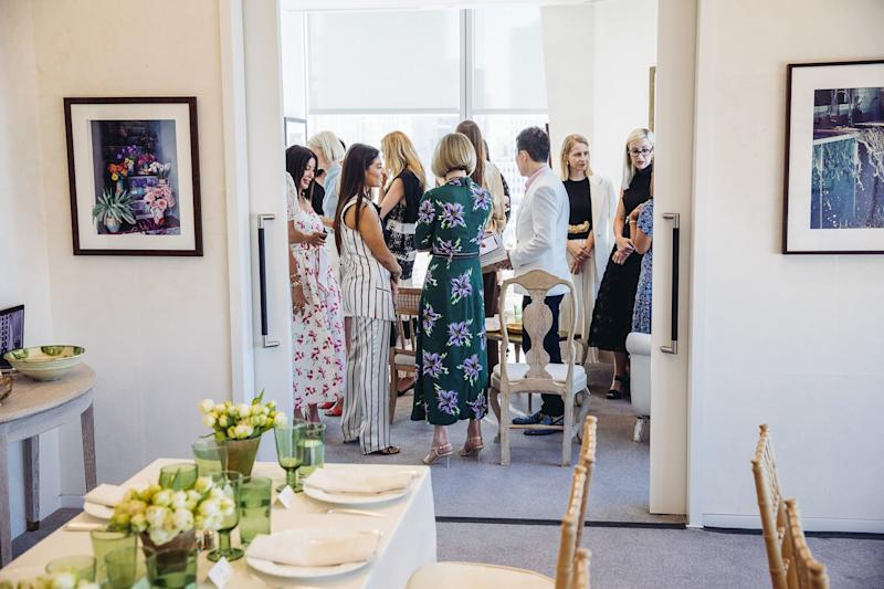 Guests in Anna Wintour's office