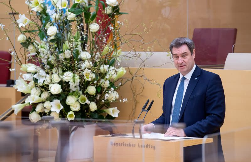FILE PHOTO: Bavaria's parliament holds mourning ceremony for coronavirus victims