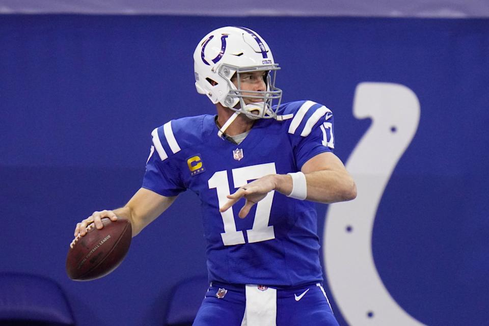 Indianapolis Colts quarterback Philip Rivers warms up before playing the Houston Texas on Dec. 20.