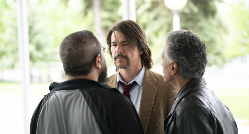 Josh Hartnett is 'never really worried' about how big his part in a film is.