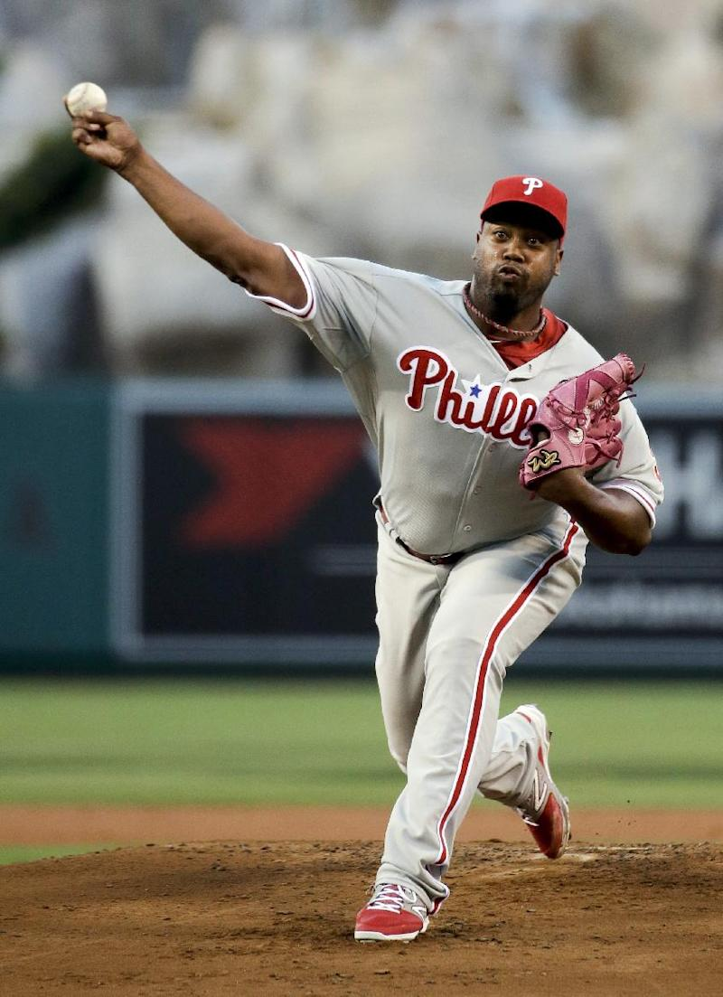 Phillies fall 7-2 after Angels' big rally in 6th