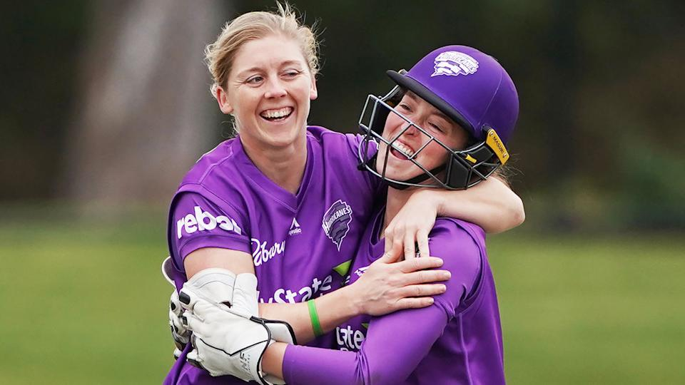 Pictured on the right, Hurricanes wicketkeeper Emily Smith breached cricket's anti-corruption code.