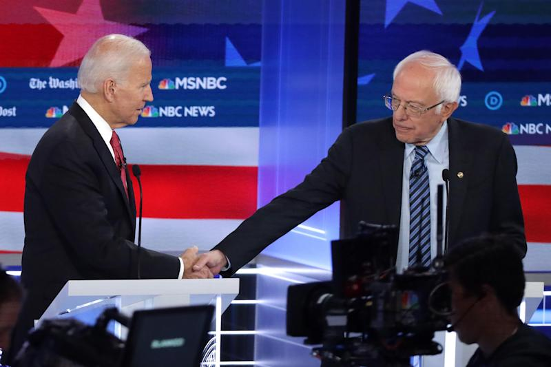 Bernie Sanders and Joe Biden continue to trade fire over Social Security