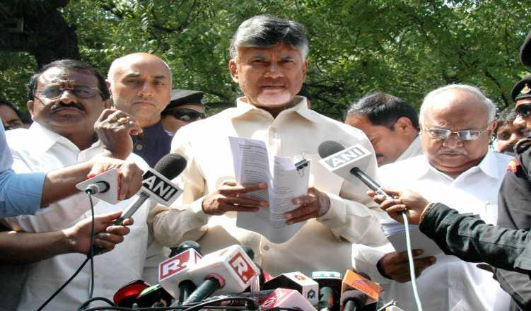 Row after 'EVM thief' goes with Naidu to EC meet