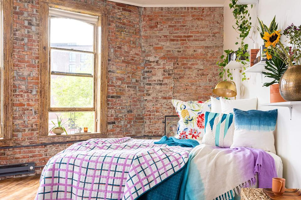 """<br><br><strong>Refinery29</strong> Mave Plaid Bedding Collection Ultra Soft Quilt Coverlet, $, available at <a href=""""https://amzn.to/3jEybLt"""" rel=""""nofollow noopener"""" target=""""_blank"""" data-ylk=""""slk:Amazon"""" class=""""link rapid-noclick-resp"""">Amazon</a>"""