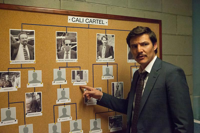 "Pedro Pascal in ""Narcos."" (Photo: Netflix)"