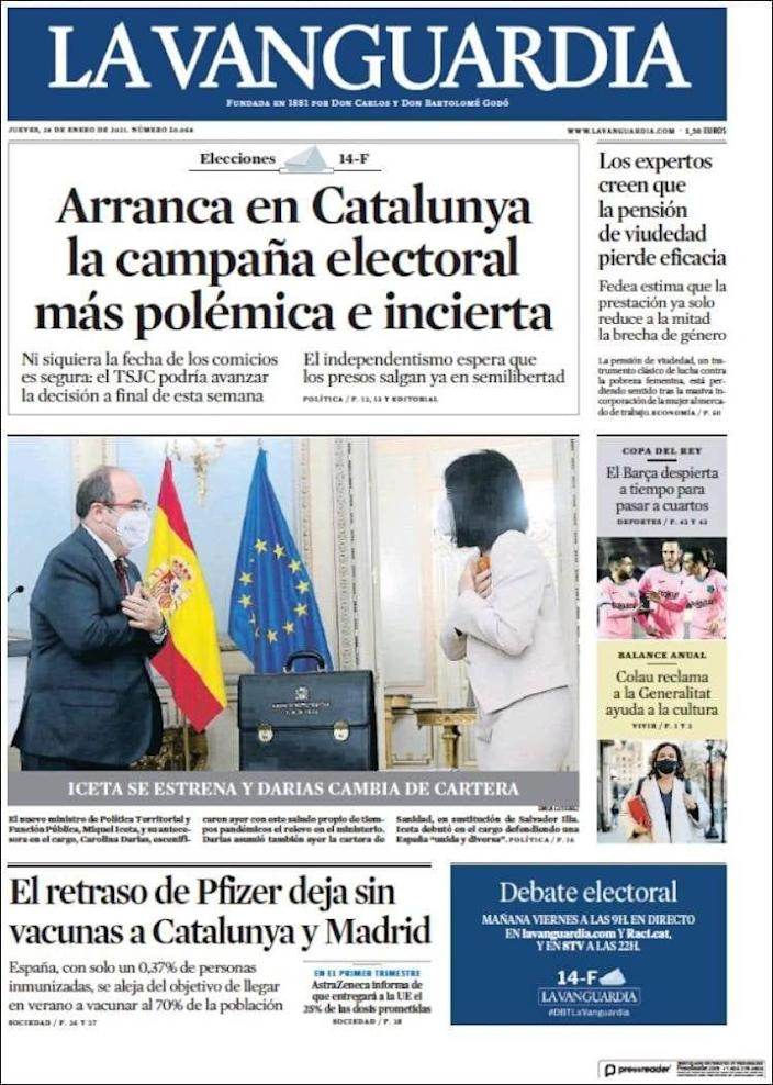 European newspapers have in some cases responded negatively towards the EU - La Vanguardia