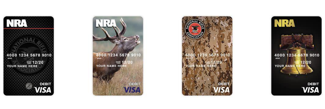NRA members can get Visacards sporting thegun group's brand. (Photo: National Rifle Association)