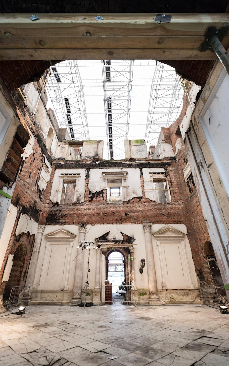 The gutted interior of Clandon Park following the fire of April 2015 - Credit: Andrew Crowley/The Telegraph