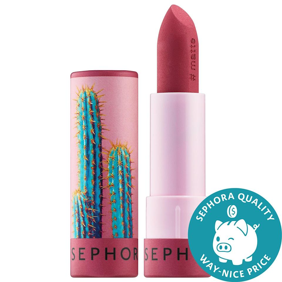 <p>Not only is the <span>Sephora Collection #Lipstories Lipstick</span> ($8) wrapped in delightful packaging that represents some of life's most picturesque moments, but it also has a creamy, pigmented formula that is just as memorable.</p>