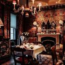 """<p>For a romantic weekend away, book a room at this Gothic escape by Edinburgh's famous castle. The antithesis of bland, minimalist hotel decor, all nine suites are low-lit, sexy, theatrical dens with lashings of red and gold, four-poster beds, tapestries, tassels, stag antlers and oak-panelled bathrooms (you get the picture). There's also a famous restaurant set in a collection of historic buildings at the castle gates, where you eat by candle-lit in the elegant dining room or in the Secret Garden room which has a hand-painted ceiling and secluded terrace. Count Dracula would rate it 5 on Tripadvisor. </p><p><strong>Stay</strong>: From £395pn (book directly online and you'll receive a free bottle of bubbly on arrival)</p><p><a class=""""link rapid-noclick-resp"""" href=""""https://www.thewitchery.com/stay"""" rel=""""nofollow noopener"""" target=""""_blank"""" data-ylk=""""slk:BOOK NOW"""">BOOK NOW </a></p><p><a href=""""https://www.instagram.com/p/CBEPWSGj-92/"""" rel=""""nofollow noopener"""" target=""""_blank"""" data-ylk=""""slk:See the original post on Instagram"""" class=""""link rapid-noclick-resp"""">See the original post on Instagram</a></p>"""