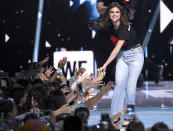 <p>The 24-year-old executive producer of <i>13 Reasons Why</i> hosted L.A.'s WE Day California event celebrating young people making a difference. Demi Lovato, Alicia Keys, Laverne Cox, and other celebs joined her onstage during the show. (Photo: Chris Pizzello/Invision/AP) </p>