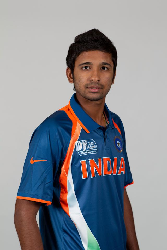 BRISBANE, AUSTRALIA - AUGUST 06:  Vikas Mishra of India poses during a ICC U19 Cricket World Cup 2012 portrait session at Allan Border Field on August 6, 2012 in Brisbane, Australia.  (Photo by Matt King-ICC/Getty Images)