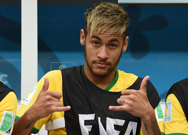 Neurological research suggests Brazil's Neymar, shown here in Brasilia on July 12, 2014, plays as if he is on auto-pilot (AFP Photo/Vanderlei Almeida)