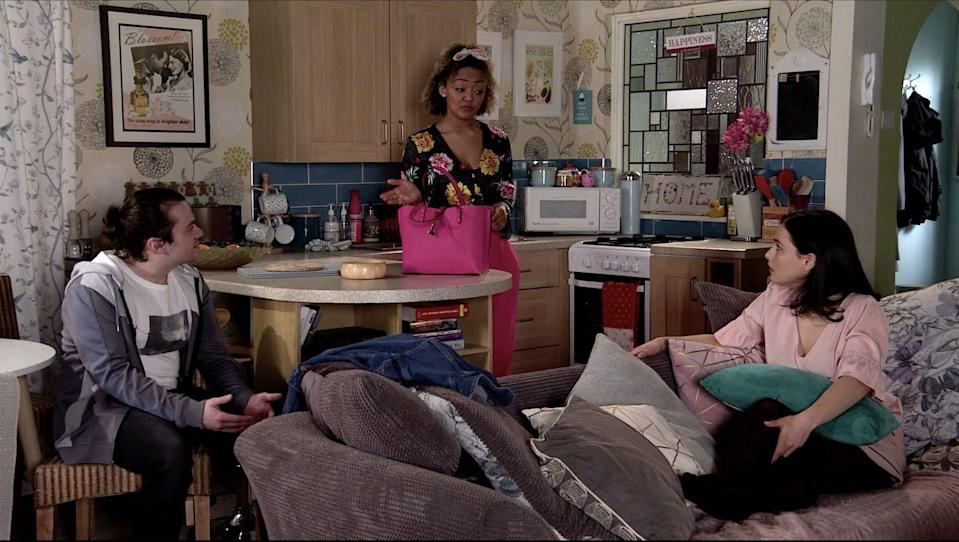 <p>Abi has invited Seb to join her and Kevin for dinner at Number 13. Emma points out to Seb that you only get one mum in this life and he should take her up on her offer of dinner. </p>