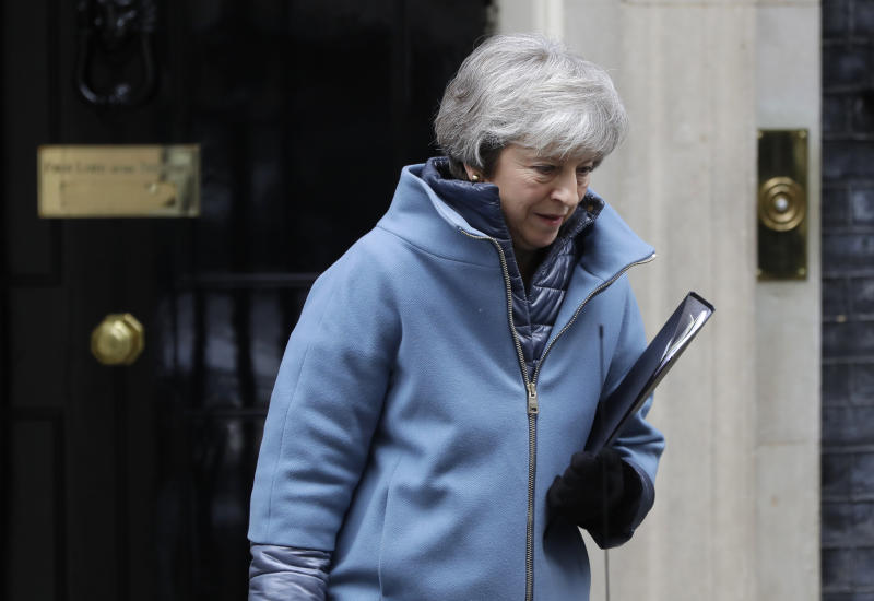 Theresa May has been accused of trying to 'run down the clock' to Brexit day (Picture: AP/Kirsty Wigglesworth)