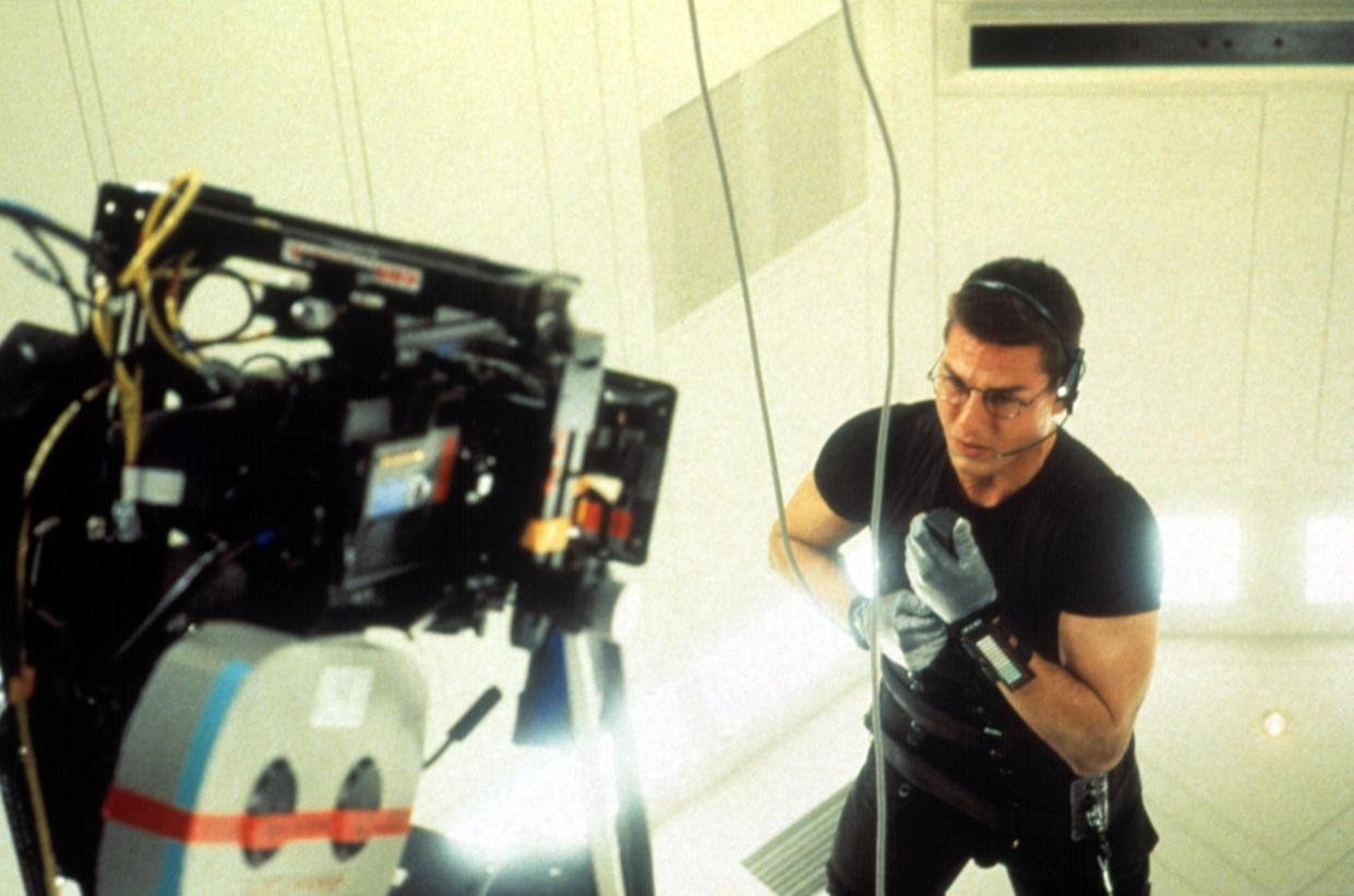 Cruise shoots the famous CIA vault sequence from 'Mission: Impossible' (Photo: Paramount Pictures/ Courtesy: Everett Collection.)