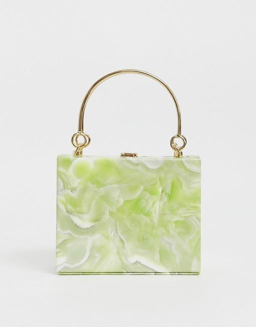 True Decadence Structured Resin Clutch with Metal Grab Handle