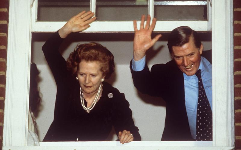 Cecil Parkinson, right, with Margaret Thatcher at 10 Downing Street in 1983 - Credit: Herbie Knott/Rex Features