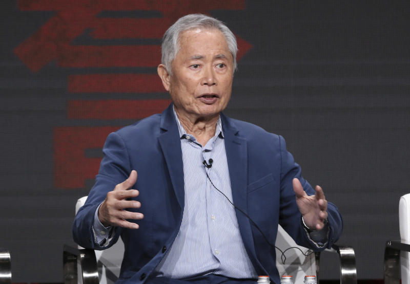 "George Takei participates in AMC's ""The Terror: Infamy"" panel at the Television Critics Association Summer Press Tour on Thursday, July 25, 2019, in Beverly Hills, Calif. (Photo by Willy Sanjuan/Invision/AP)"