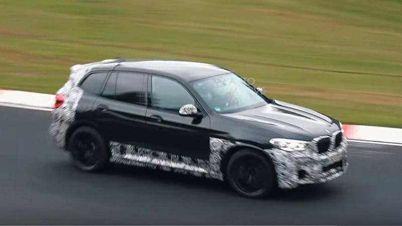 BMW X3 M Nurburgring video top image