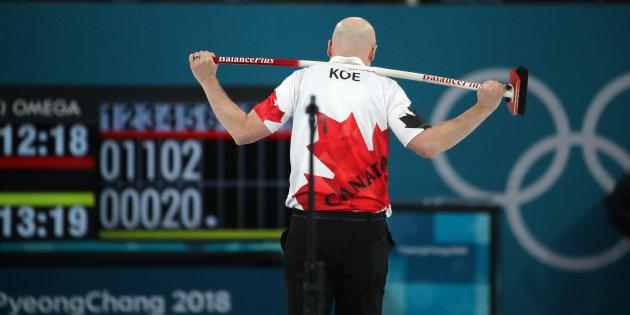 Skip Kevin Koe of Canada lost the bronze medal match against Switzerland.