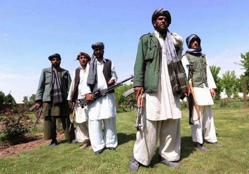Former Taliban fighters who have joined forces with the Afghan government