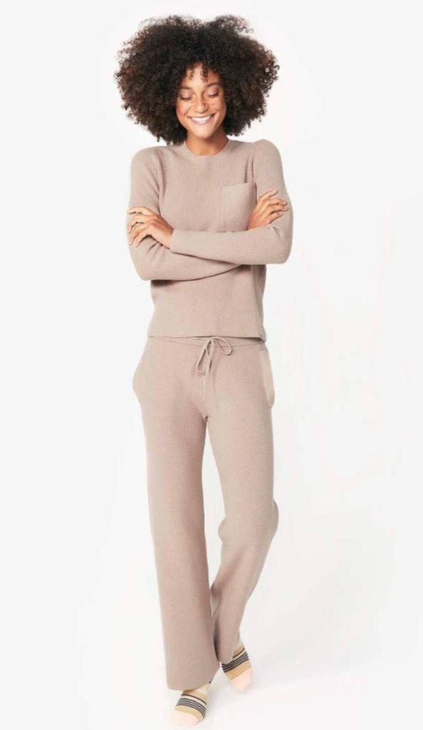 figs, loungewear, knit set, work from home, pajamas, fall 2020 trends, fashion trends, fall 2020