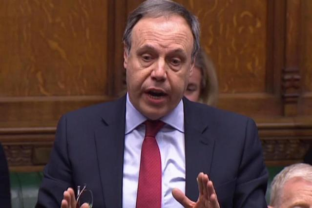 DUP Westminster leader Nigel Dodds speaking in the Commons this week (AFP/Getty Images)