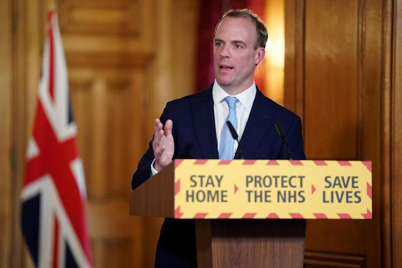 Foreign Secretary Dominic Raab will deputise for Mr Johnson (PA)