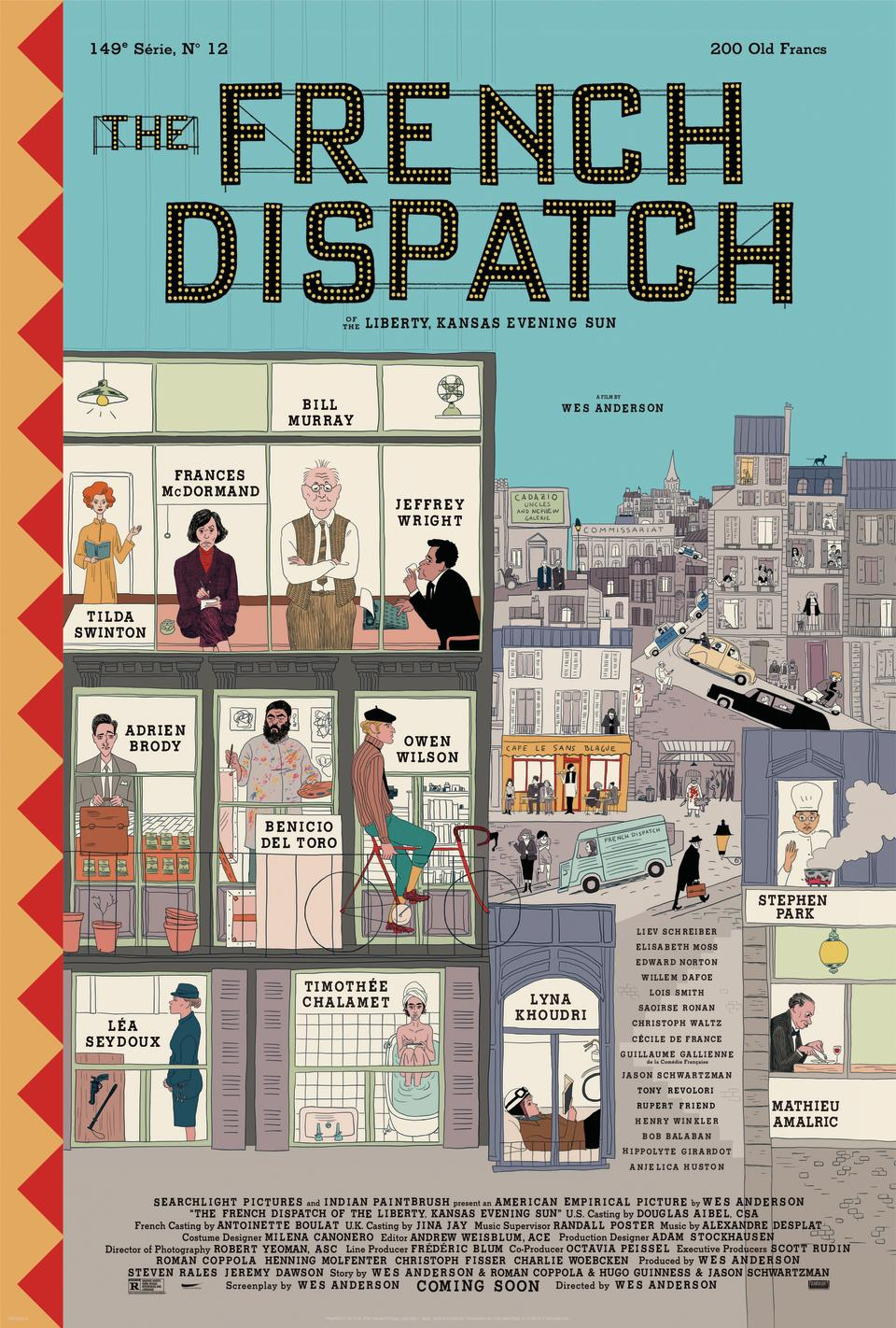 The first poster for The French Dispatch. (Searchlight Features/Disney)