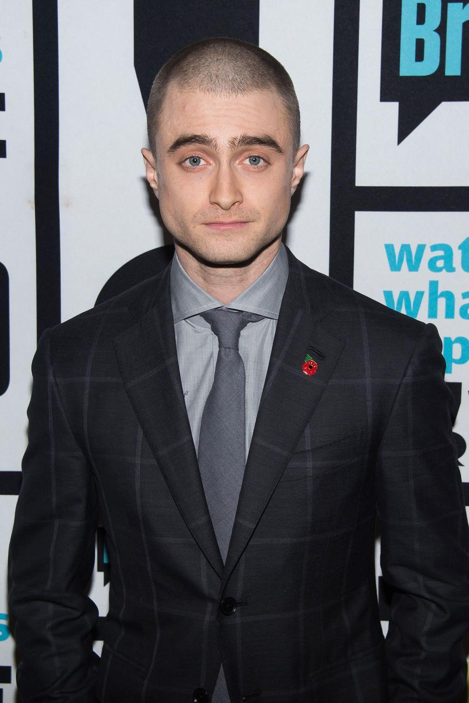 <p>Daniel Radcliffe starred as an FBI agent who goes undercover with a shaved head in the film <em>Imperium</em>. Being the dutiful actor he is, Radcliffe really did buzz his hair in the scene for the movie. </p>