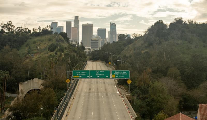A Los Angeles freeway
