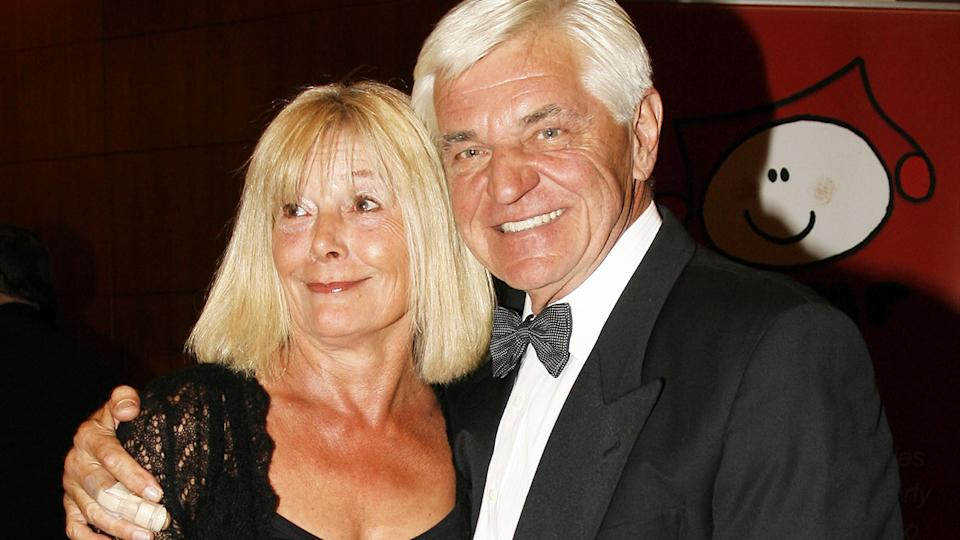 John Konrads and wife Mikky, pictured here at the 'Music for Children Ball' in 2006.