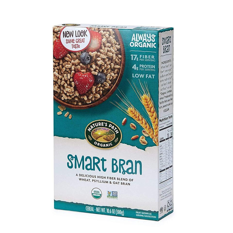 <p>This <span>Nature's Path Smart Bran</span> ($31 for six) has 15 grams of net carbs. It's full of fiber, and we love adding berries or a scoop of peanut butter to make a filling, nutritious breakfast.</p>