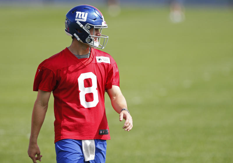 Daniel Jones reportedly has a deal with the Giants on the eve of training camp. (Reuters)