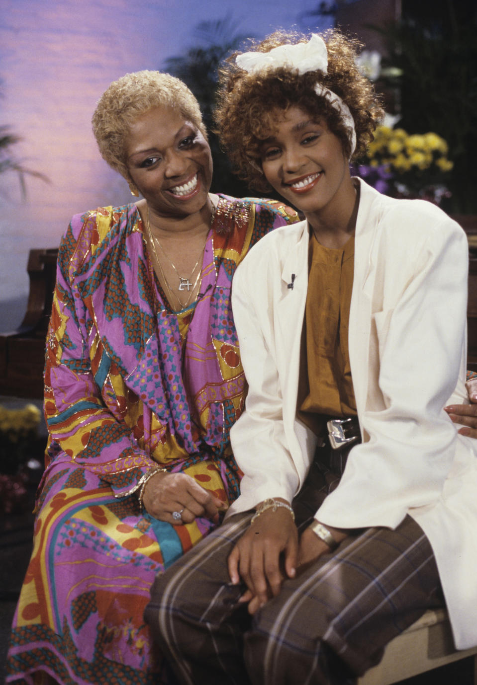 Walt Disney Television via Getty Images SPECIAL - SUPERSTARS AND THEIR MOMS - Whitney and Cissy Houston are featured on a special that celebrated moms and aired on Mother's Day, May 10,1987 on the Walt Disney Television via Getty Images Television Network.  (Photo by Walt Disney Television via Getty Images Photo Archives/Walt Disney Television via Getty Images) WHITNEY HOUSTON, CISSY HOUSTON