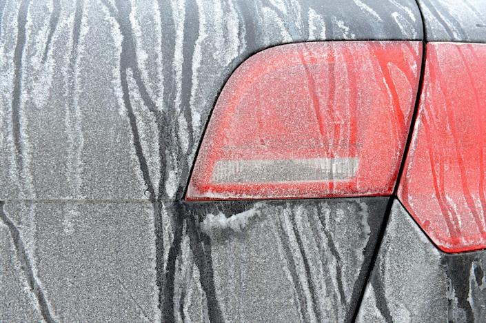 """<p>Road salt can ruin your car, so be sure to wash and wax your car. But car care doesn't stop there. """"Car owners often forget two key areas when they winterize their vehicles: the rocker panels and door jambs,"""" says Jeff Brown, product and sales manager at <a href=""""http://www.griotsgarage.com/"""" rel=""""nofollow noopener"""" target=""""_blank"""" data-ylk=""""slk:Griot's Garage"""" class=""""link rapid-noclick-resp"""">Griot's Garage</a>. """"Quick and easy wax jobs at car washes usually don't thoroughly address these sensitive areas, especially when it comes to waxing. Putting in some elbow grease to wax vulnerable rocker panels and door jambs will protect your car investment for the long term.""""<br></p>"""