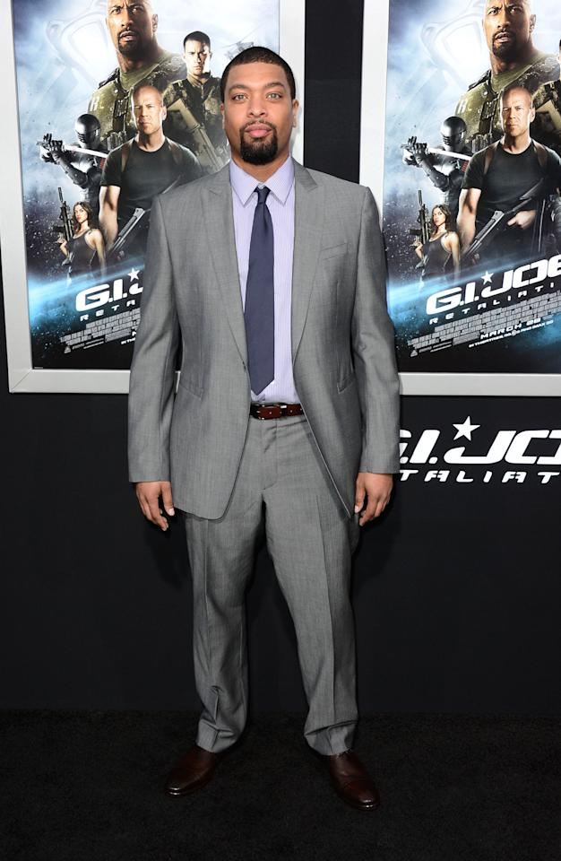 "HOLLYWOOD, CA - MARCH 28:  Actor DeRay Davis arrives at the Premiere of Paramount Pictures' ""G.I. Joe: Retaliation"" at TCL Chinese Theatre on March 28, 2013 in Hollywood, California.  (Photo by Frazer Harrison/Getty Images)"