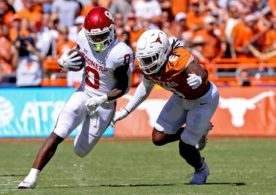 The Sooners and Longhorns combined for 102 points, the most in a Red River rivalry game.